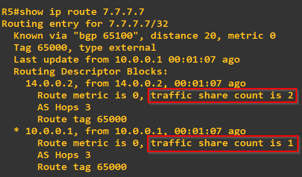 BGP Load sharing and Unequal Cost Load sharing – VxPlanet