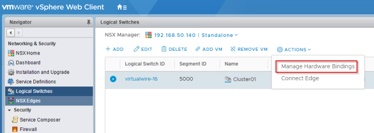 VMware NSX VxLAN to VLAN L2 Bridging with DellEMC Networking