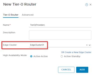Deploying the NSX-T 2 4 Edge VM Cluster leveraging vSphere
